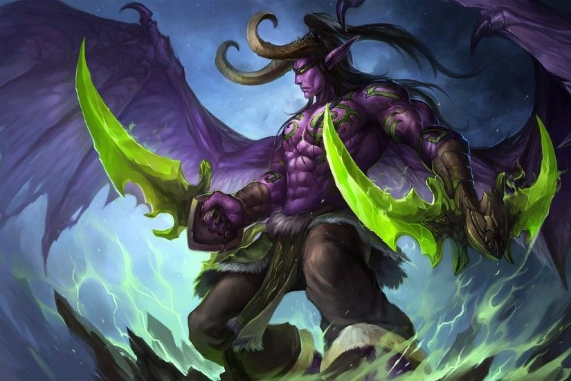 World Of Warcraft, Fan Art, Illidan Stormrage Wallpapers HD / Desktop and  Mobile Backgrounds