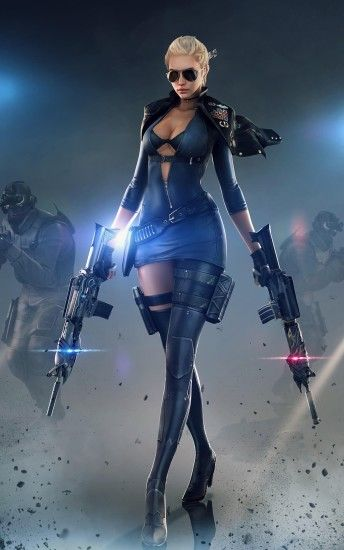 women with sunglasses, Women, CrossFire, PC gaming, Gun, Digital art, Video  games Wallpapers HD / Desktop and Mobile Backgrounds