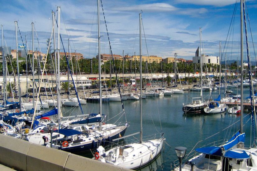 boat sailing ship sea bay vehicle harbor dock yacht Barcelona  infrastructure Marina sailboat boats harbour euorpe