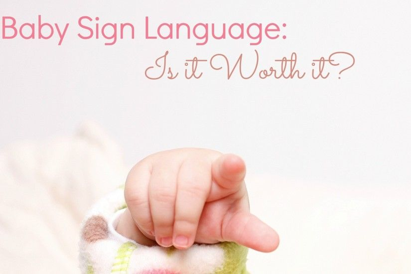 Cute baby sign language HD wallpaper