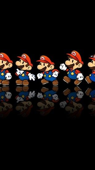 HD Wallpaper | Background Image mario, reflection, mustache