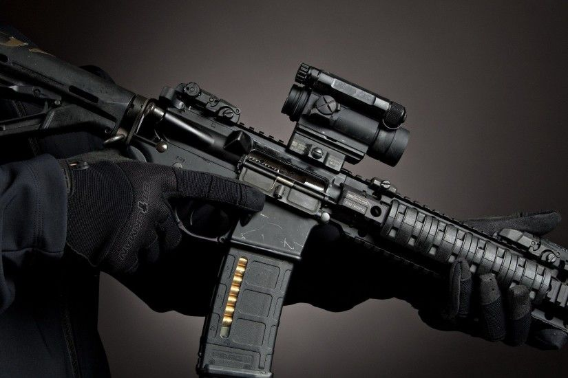 weapons, Magpul, AR-15, Aimpoint comp m4 :: Wallpapers