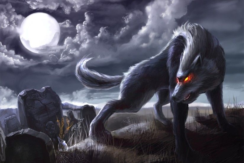 Dark Werewolf Wallpaper