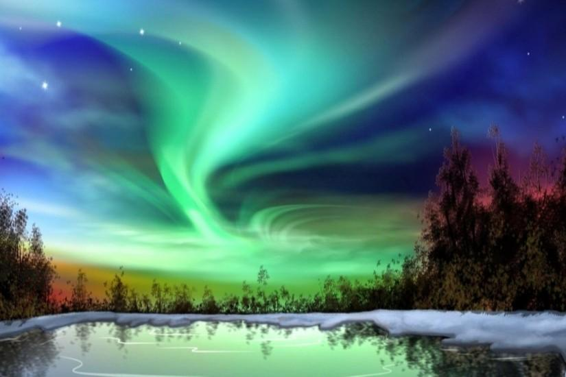 northern lights wallpaper 2560x1600 for htc