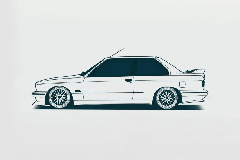 My minimal e30 desktop wallpaper ...