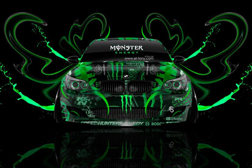 Monster Energy BMW M5 Front Plastic Acid Car
