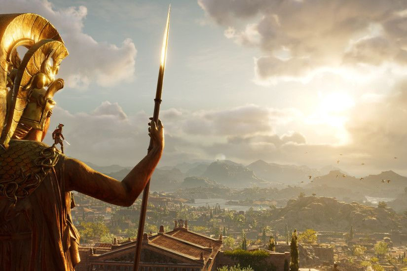 General 3440x1440 video games Video Game Art Assassin's Creed Odyssey Greece  ancient greece Spartans mythology ultrawide