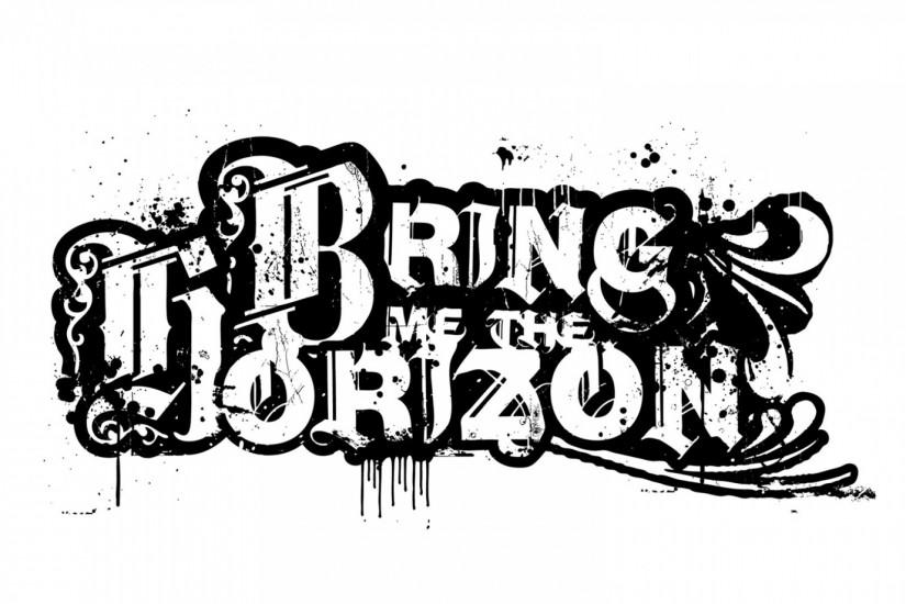 Preview wallpaper bring me the horizon, text, sign, graphics, spray  1920x1080