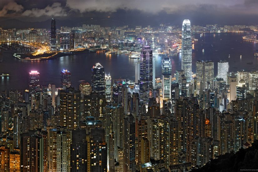 Related Wallpapers from San Francisco Wallpaper HD ... Hong Kong Night  Skyline for 2560x1600