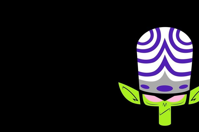General 1920x1080 Mojo Jojo Powerpuff Girls villains minimalism solid color