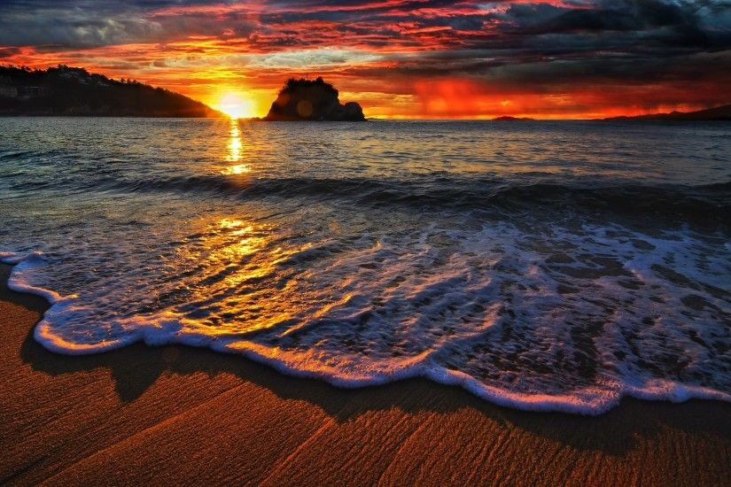 Sunset Beach Wallpaper High Quality