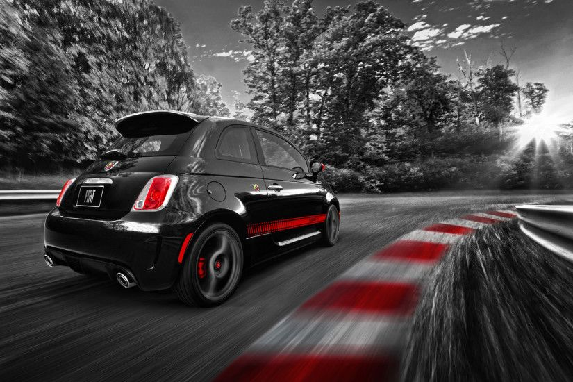 Fiat 500 Abarth Race Track wallpapers and stock photos
