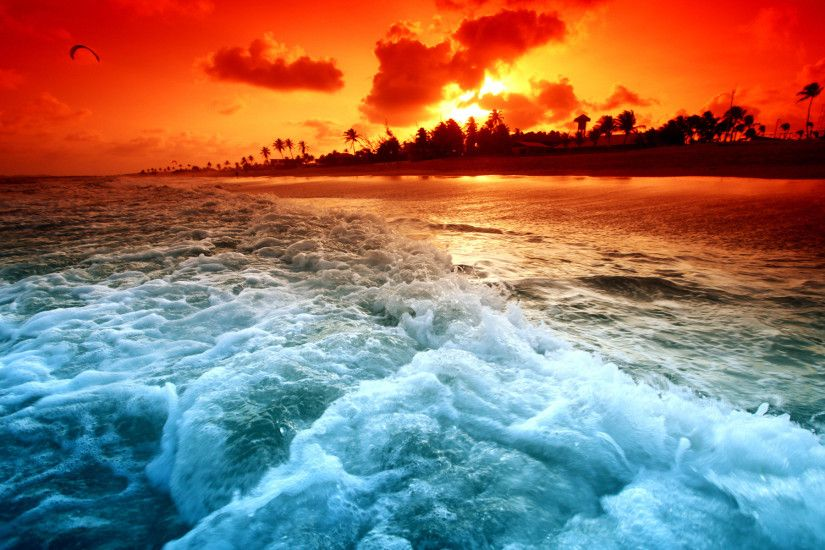 Tropical Island Sunset HD Wallpapers