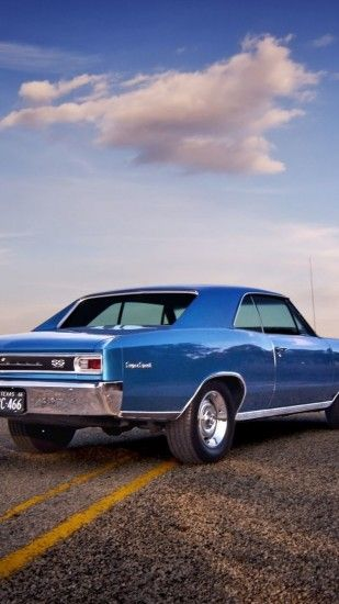 Preview wallpaper chevrolet, chevelle, 1966, rear view 1440x2560