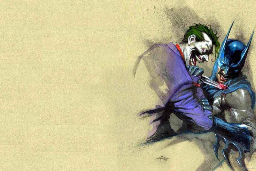 Joker stabs Batman picture