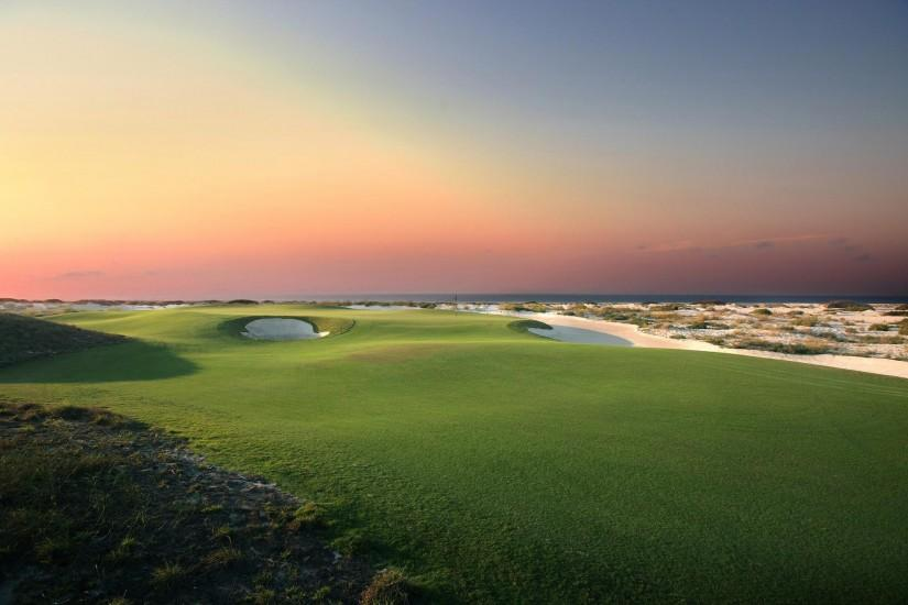 Sunset Golf Landscape Wallpaper Photos 67213