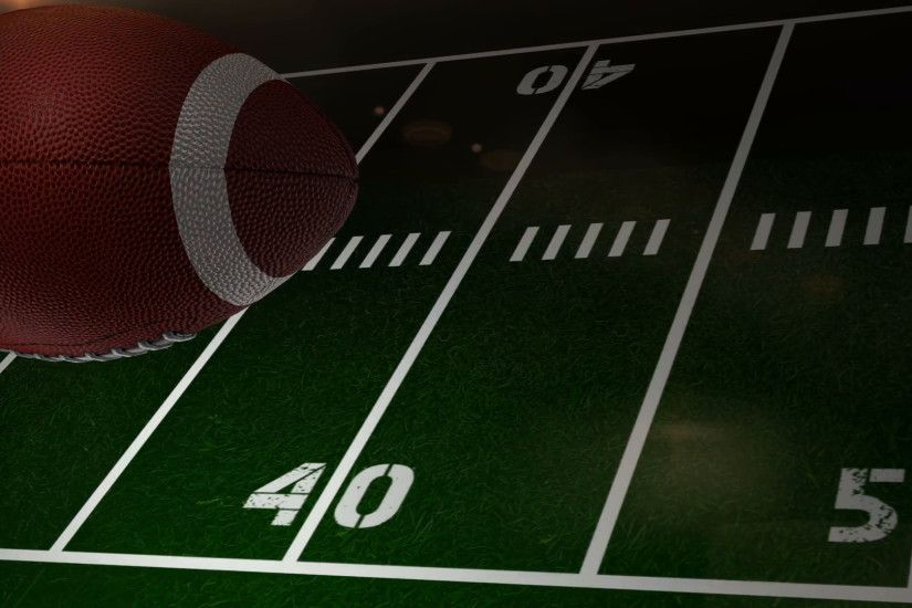 Subscription Library Rotating Football on Field Background Animation