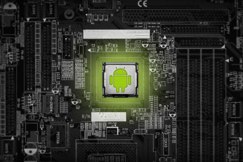 Android circuit art HD wallpaper