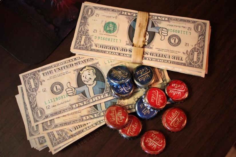 chanced1 149 31 Vault Boy Bills + Nuka Caps // Fallout 3 Props by Keevanski