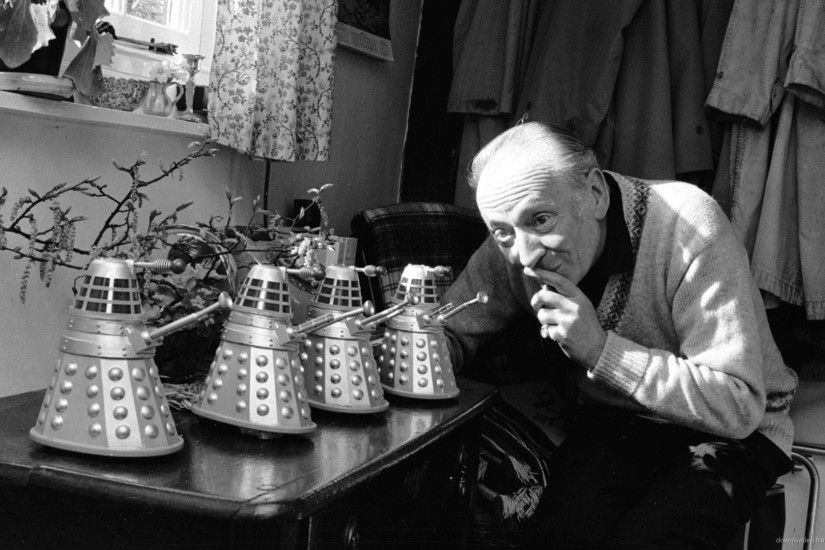 William Hartnell With Daleks for 1920x1080
