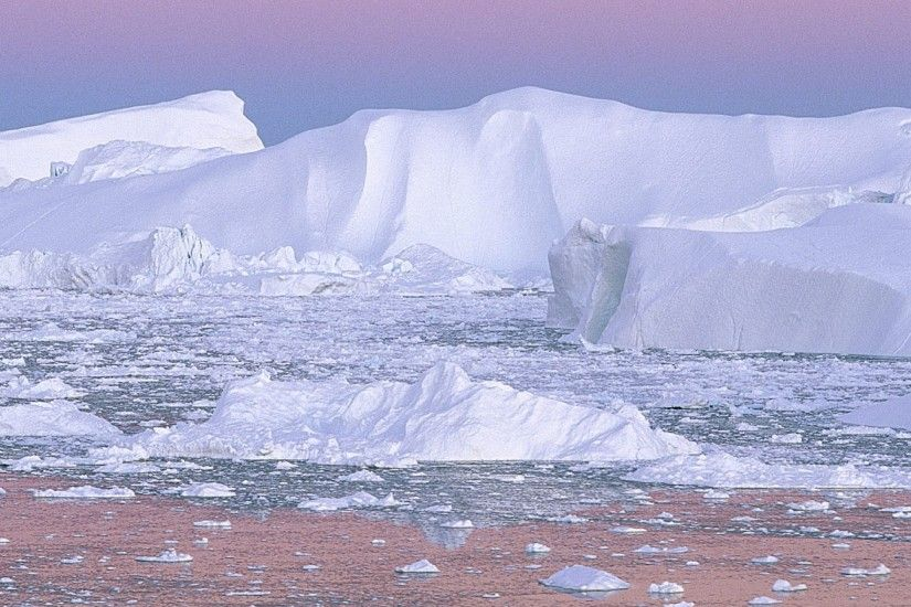 Preview wallpaper iceberg, pink, white, cold, greenland 3840x2160