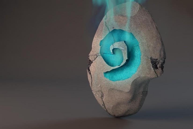 Here's a version with some smoke coming from the hearthstone rune in the  stone: ...