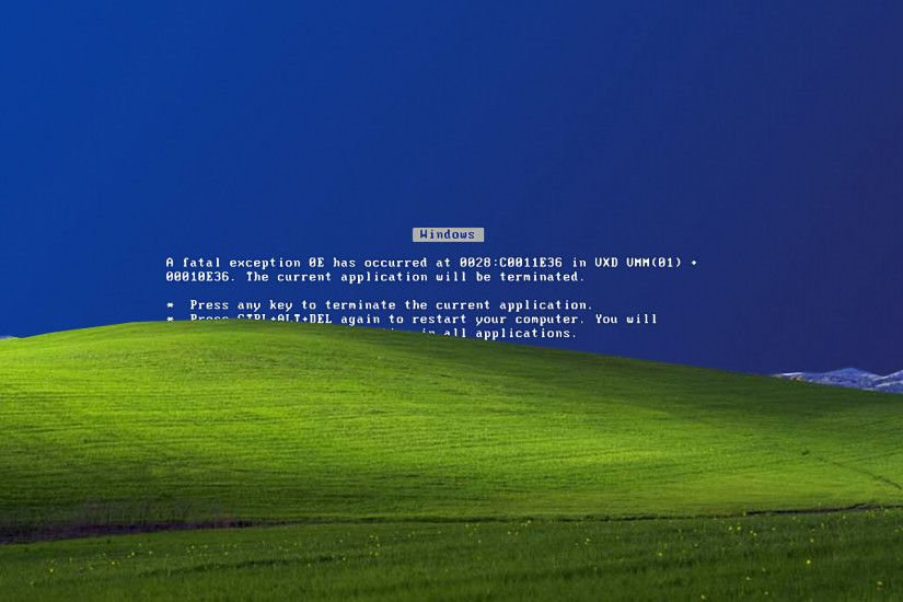 Blue Screen Of Death Microsoft Windows XP Error