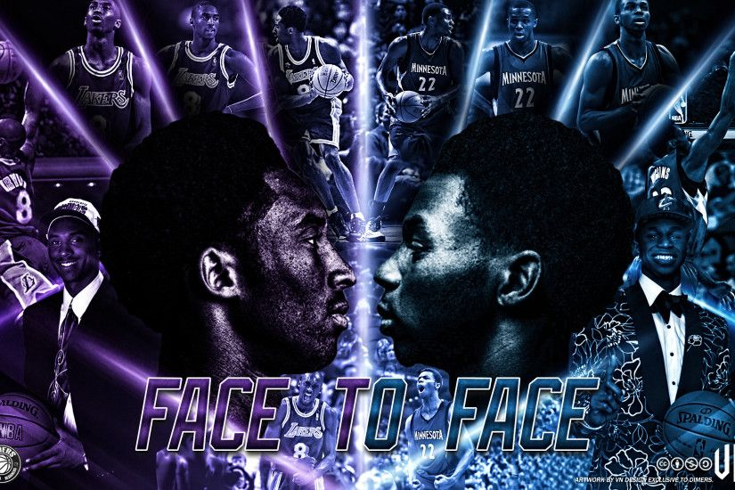 ... Kobe Bryant Andrew Wiggins Face to Face wallpaper by vndesign