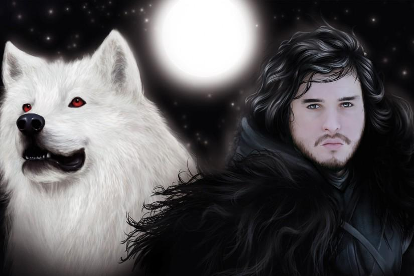Artwork Game of Thrones Jon Snow wolves wallpaper | 1920x1080 | 218001 .