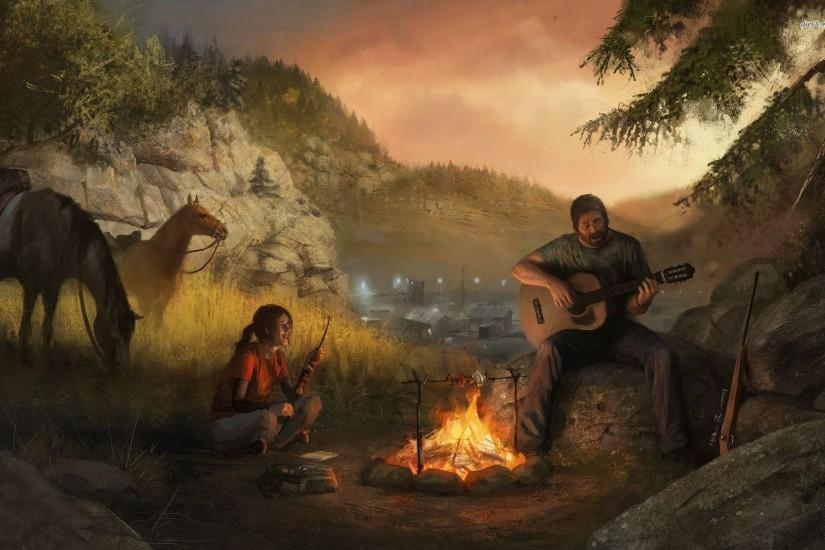Ellie And Joel - The Last Of Us Artwork Wallpaper ...