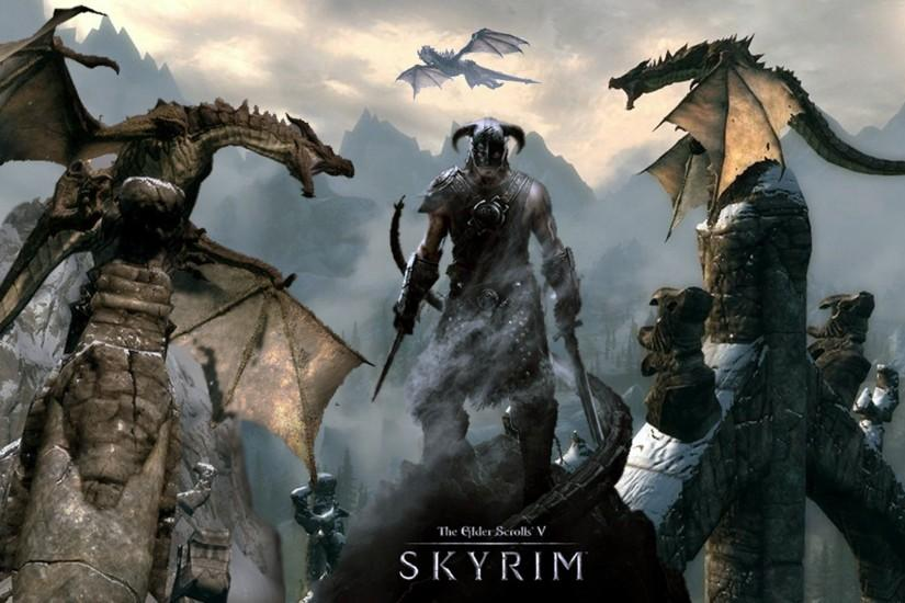 video Games, Fantasy Art, The Elder Scrolls V: Skyrim, Dragon .
