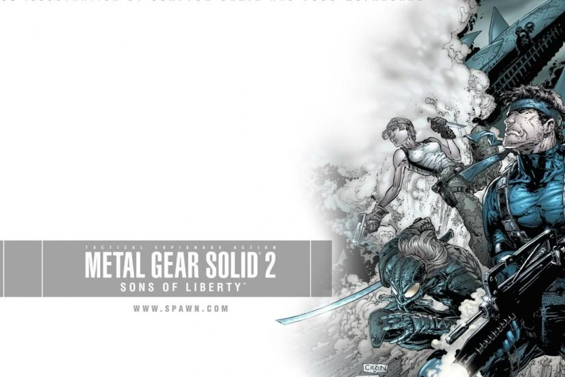 MGS METAL GEAR SOLID VIDEO GAMES SONS OF LIBERTY HD WALLPAPER (#14667)