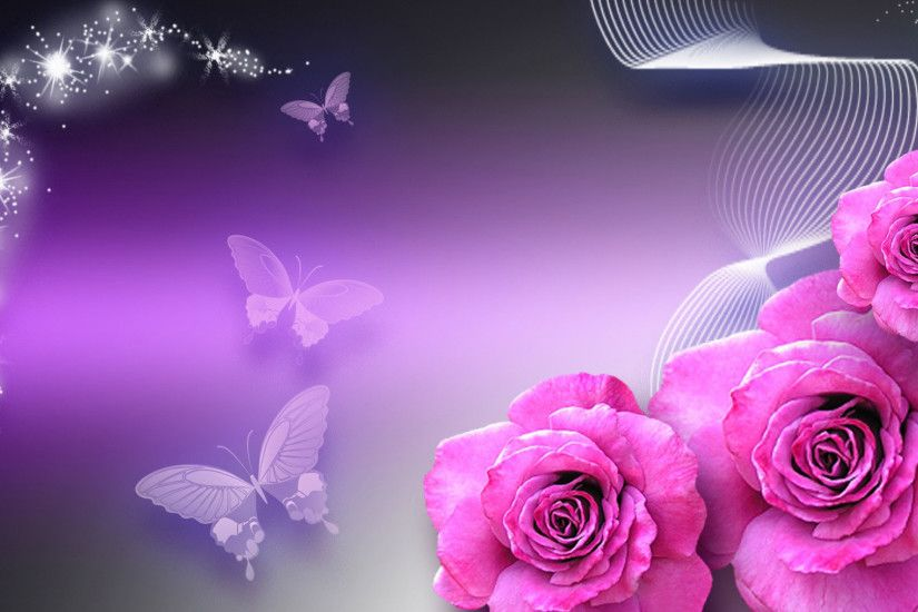 hd pics photos attractive rose flowers fancy glittering butterflies hd  quality desktop background wallpaper