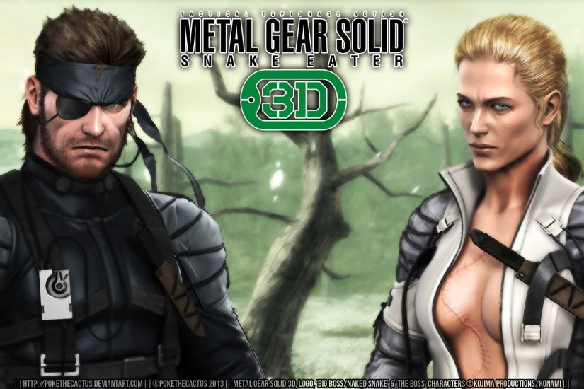 MGS3D Wallpaper |:| Big Boss and Boss |:| by