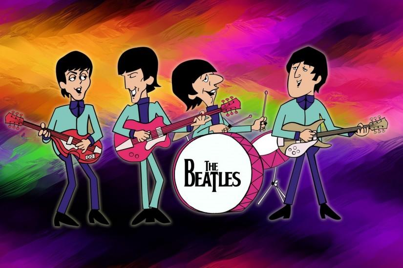 Preview wallpaper the beatles, picture, graphics, show, instruments  3840x2160