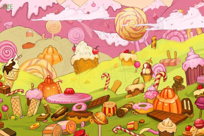 Candyland Wallpaper 1