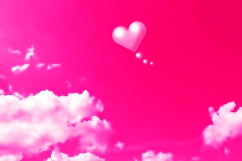 Download now full hd wallpaper pink heart cloud ...