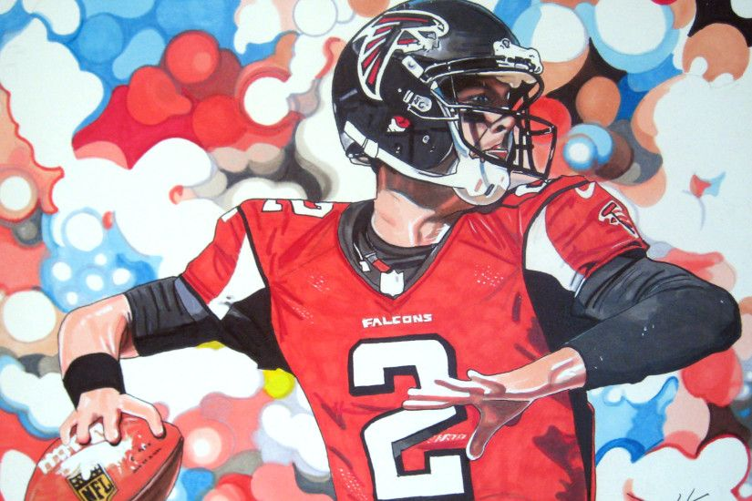11x14 marker illustration I completed of Atlanta Falcons QB Matt Ryan.