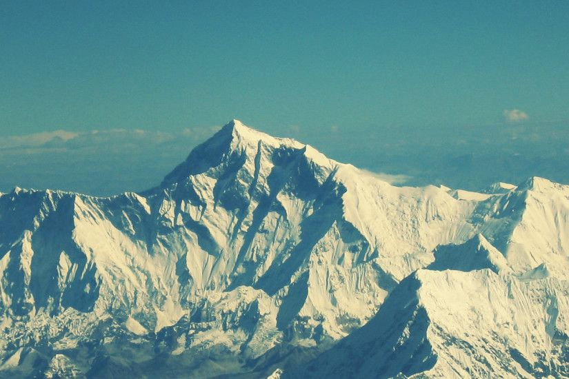 3840x1200 Wallpaper everest, mountain, sky, tops