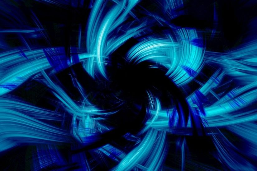 Preview wallpaper blue, black, abstract, brush 1920x1200
