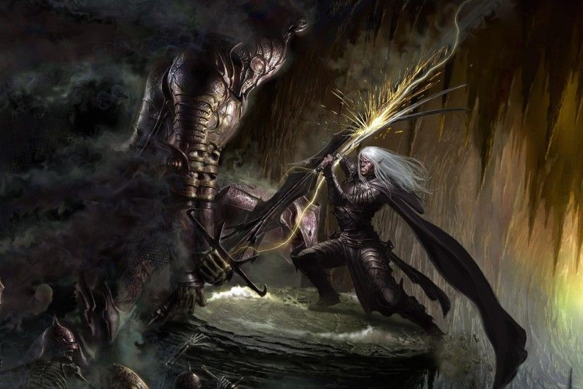 General 2560x1574 fantasy art artwork Drizzt Do'Urden Dungeons & Dragons