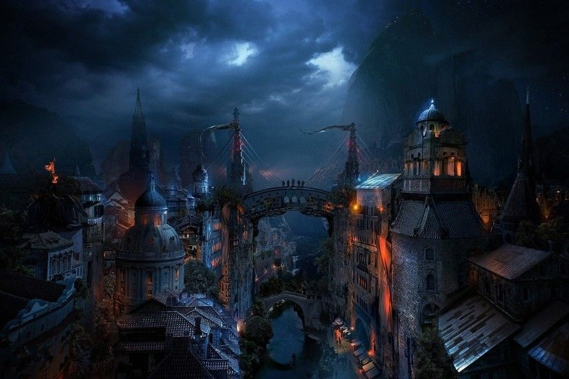 Dark city Fantasy HD desktop wallpaper, City wallpaper - Fantasy no.
