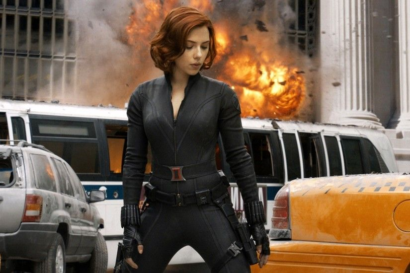 movies, The Avengers, Black Widow, Scarlett Johansson, Explosion,  Superheroines Wallpapers HD / Desktop and Mobile Backgrounds