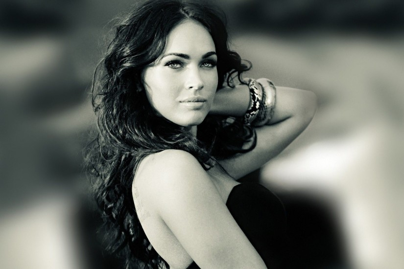 megan fox black and white wallpaper hot megan fox black