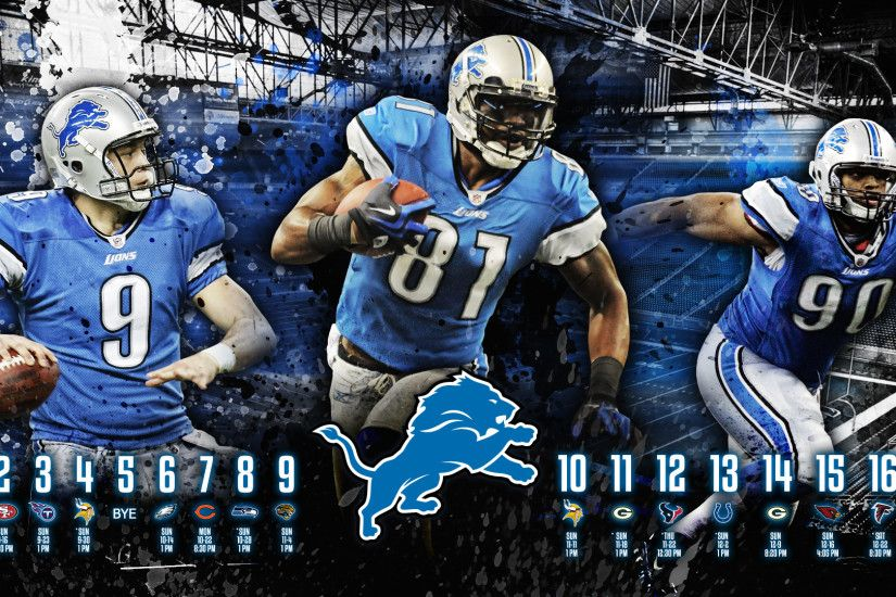 ... Detroit Lions HD Wallpaper - 2012 Schedule by madeofglass13
