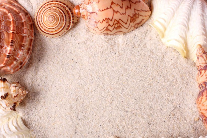 1920x1080 Wallpaper seashells, frame, sand
