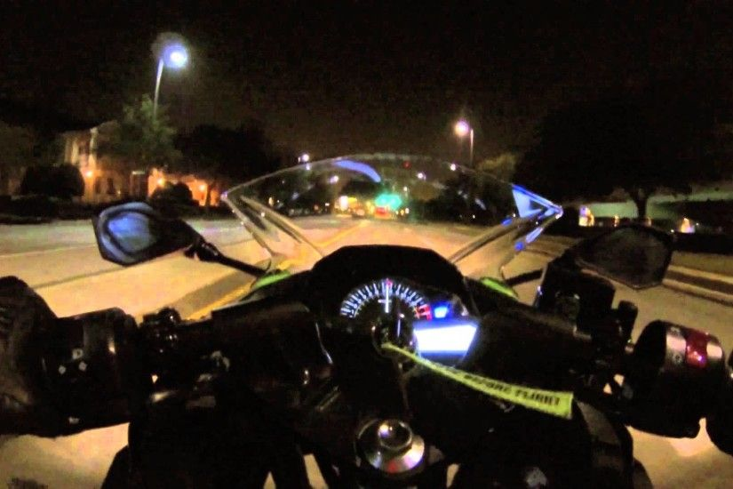 Kawasaki Ninja 300 Night Ride (gopro Hero3 Night Test