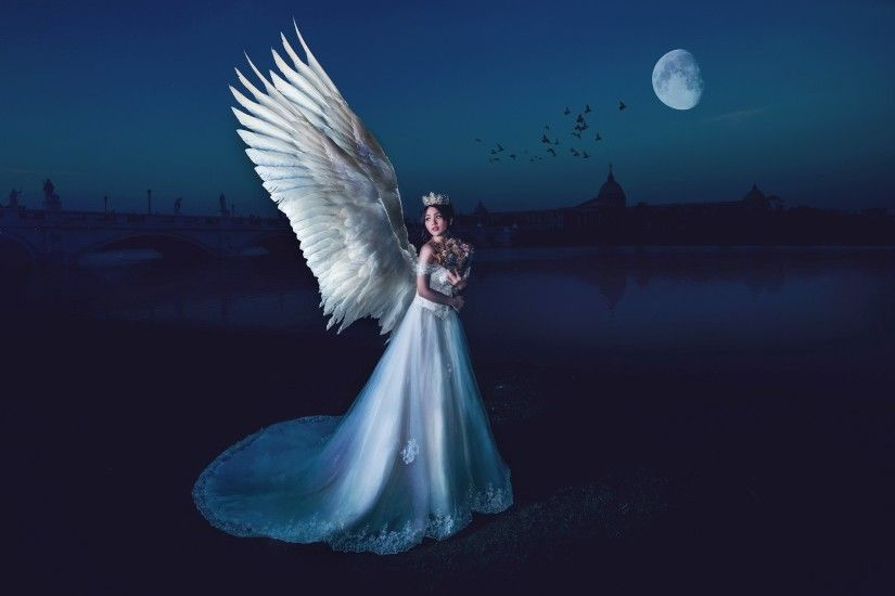 ... fantasy Art Night Angel Women Wallpapers HD Desktop and Mobile  Backgrounds