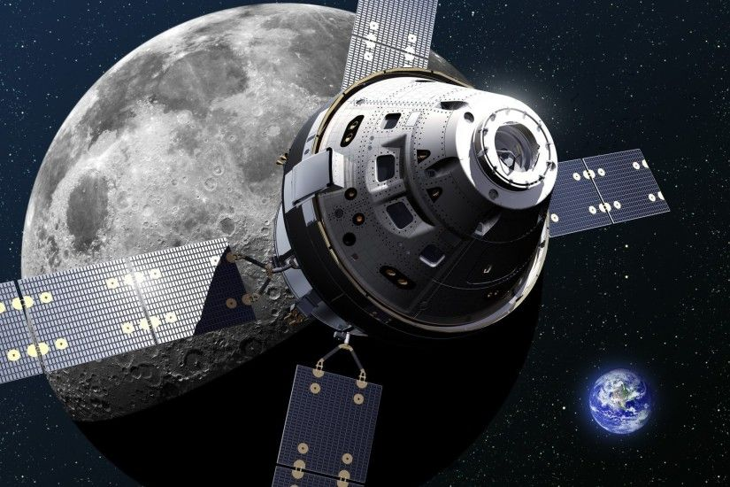 orion spacecraft space ship moon land