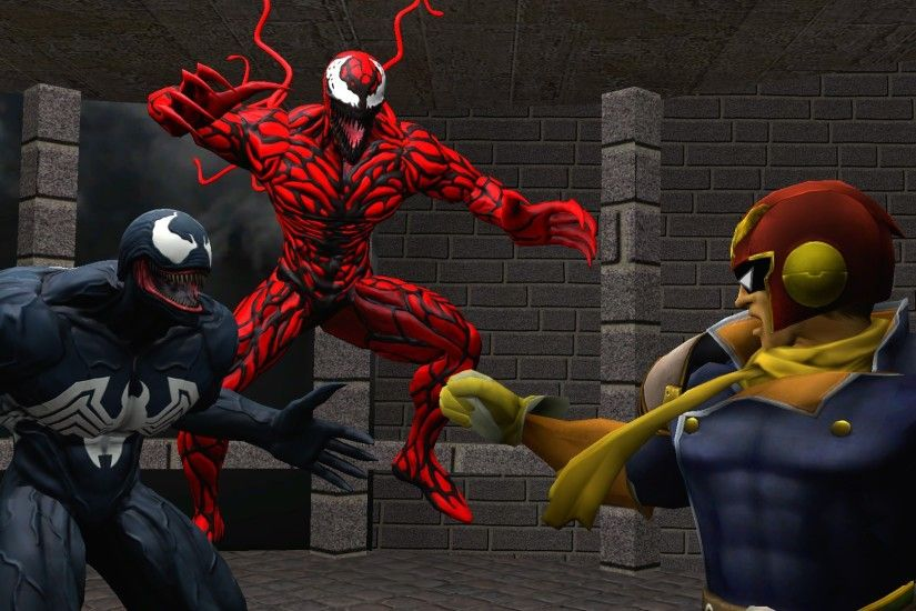 ... kongzillarex619 Captain Falcon meets Venom and Carnage by  kongzillarex619